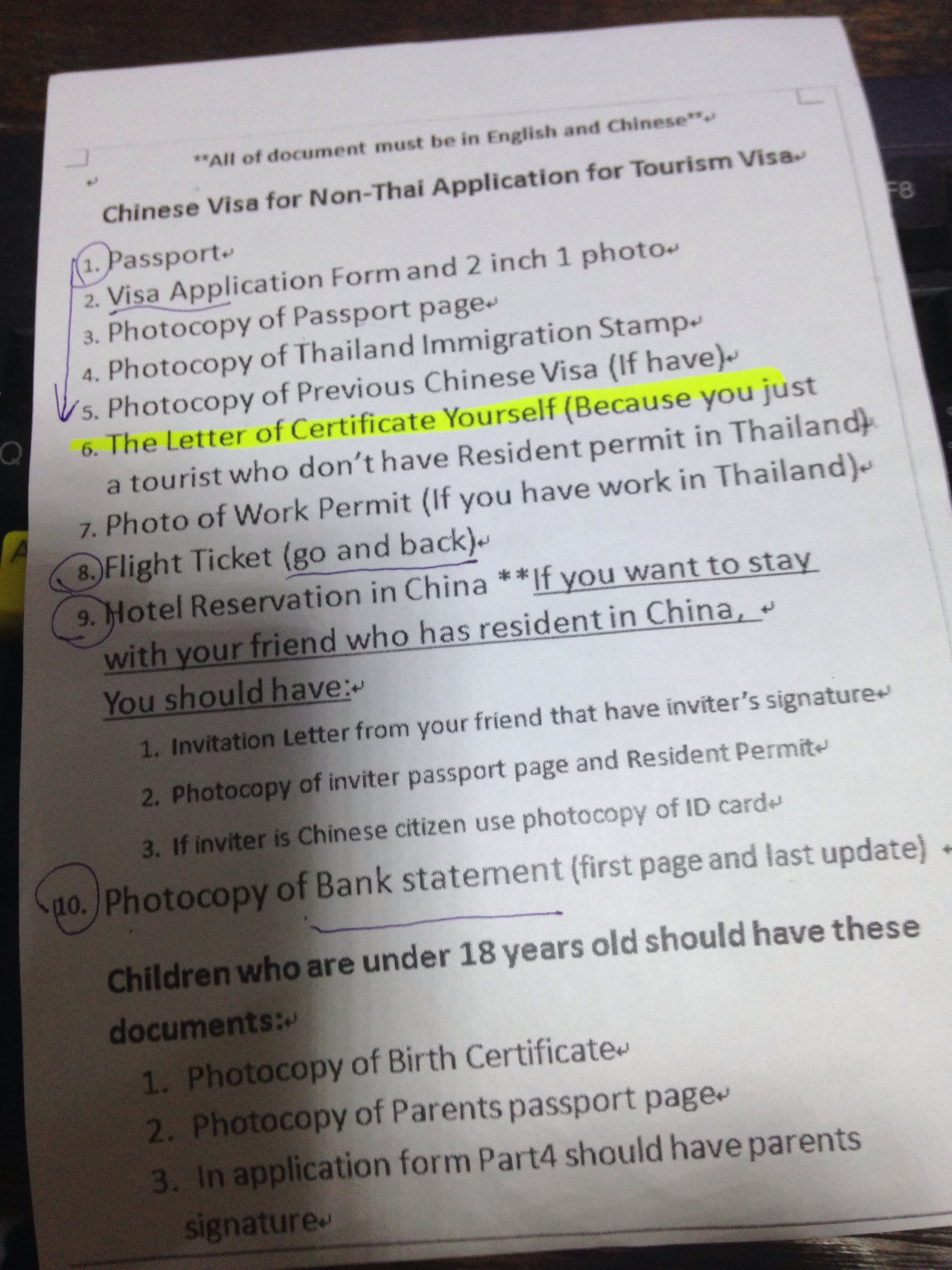 Applying For Your Chinese Visa In Bangkok Complete Tandemonium